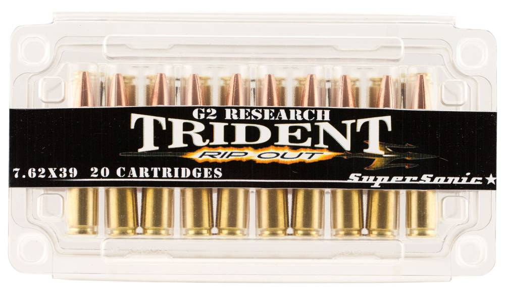 G2 Research RipOut 7.62X39mm 124 GR Hollow Point 20 Bx/ 18 Cs