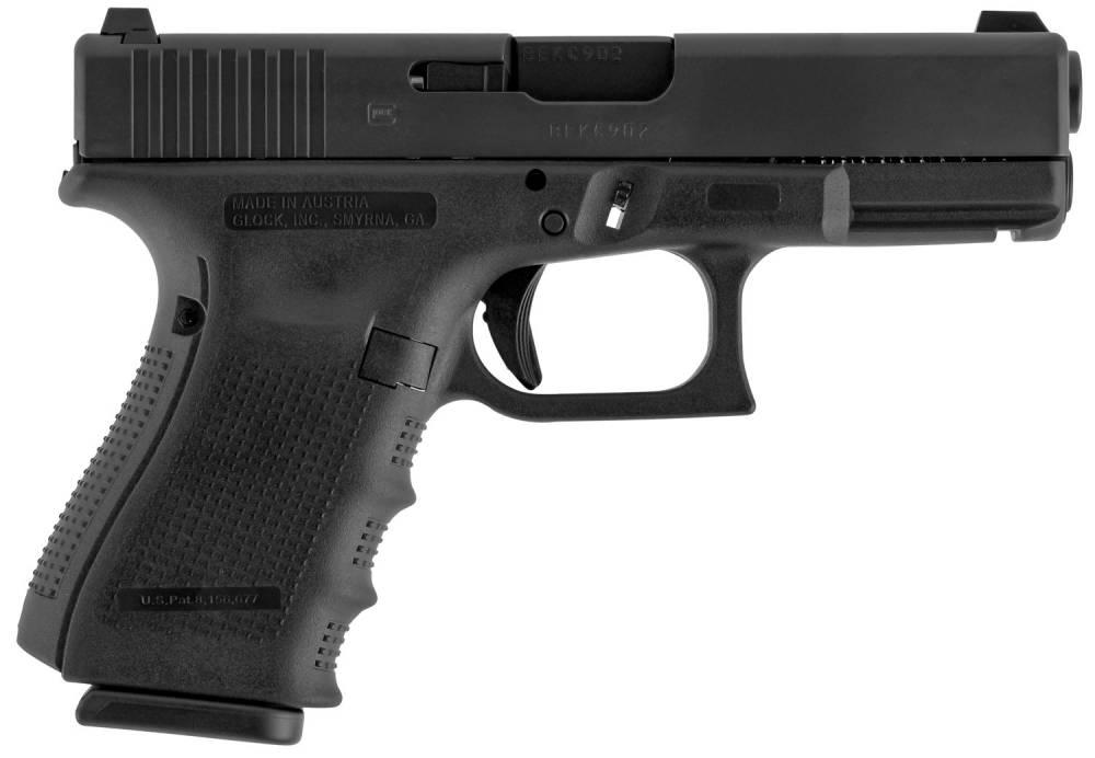Glock G19 Gen 4 Double 9mm Luger Black Interchangeable Backstrap Grip