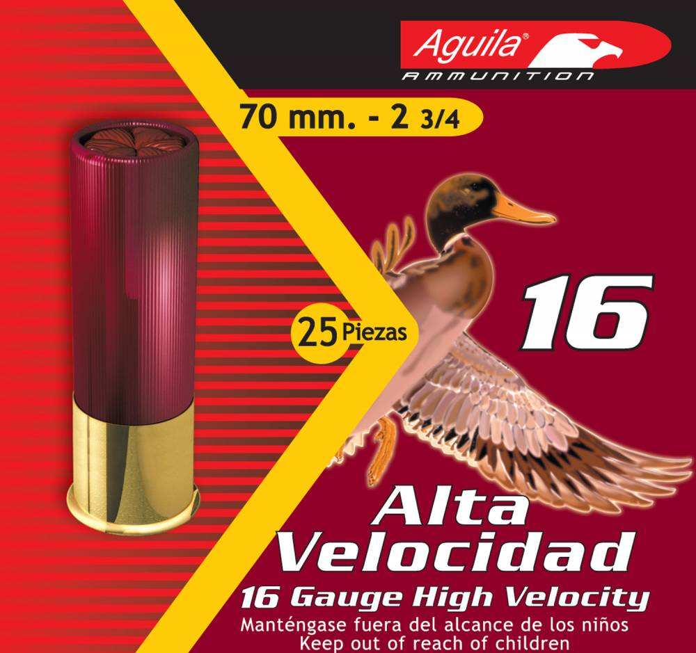 Aguila Hunting High Velocity 16 Gauge 2.75