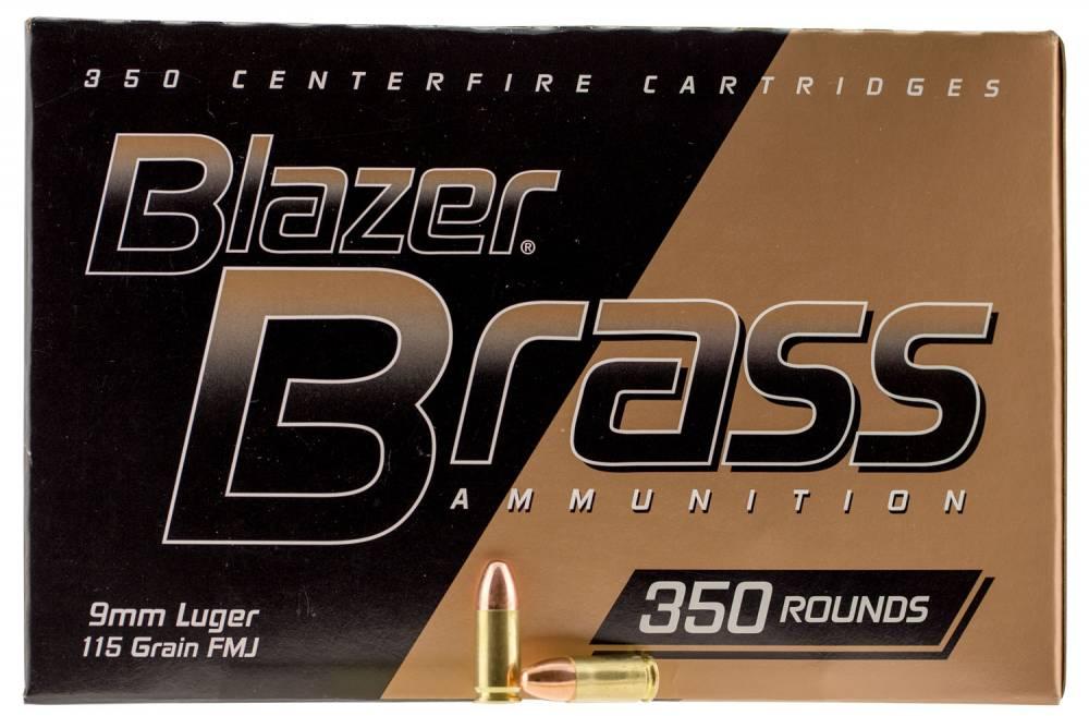 CCI Blazer 9mm Luger 115 GR Full Metal Jacket Round Nose 350 Bx/ 3 Cs