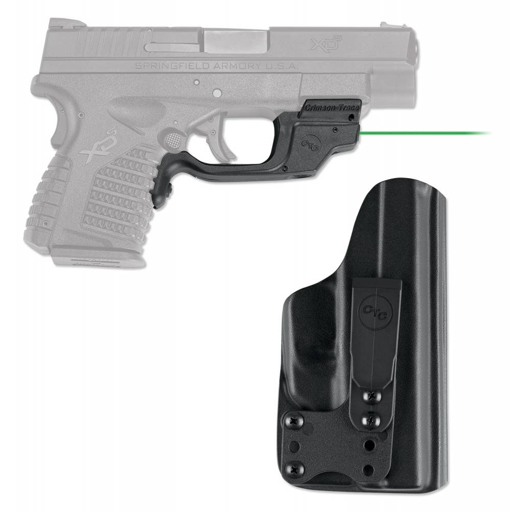 Crimson Trace Laserguard with Holster Green Laser Springfield XD-S Trigger Guard Black