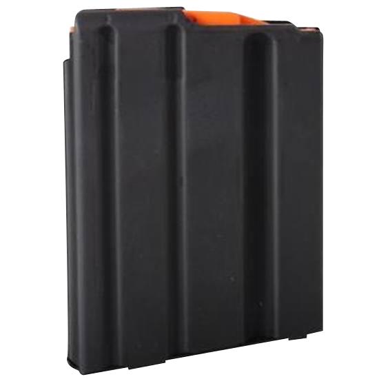C Products Defense Inc 5X23041188CPD DURAMAG  223 Rem,5.56x45mm NATO AR-15 5rd Black w/Orange Follower Stainless Steel