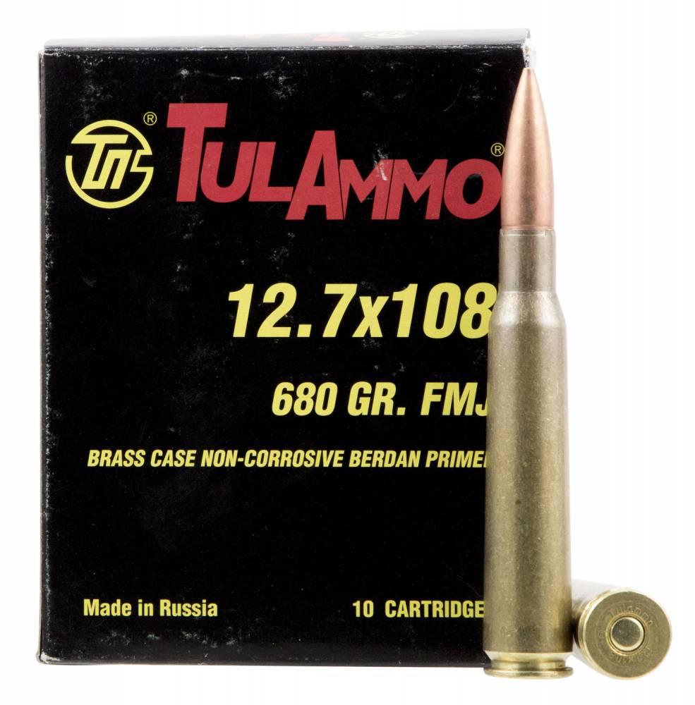Tulammo TA127101 Rifle 12.7x108mm 680 Gr Full Metal Jacket
