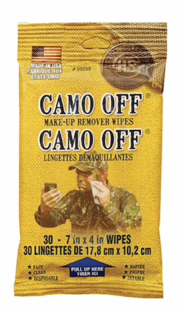 HS FACE PAINT REMOVER PADS CAMO-OFF 30PK
