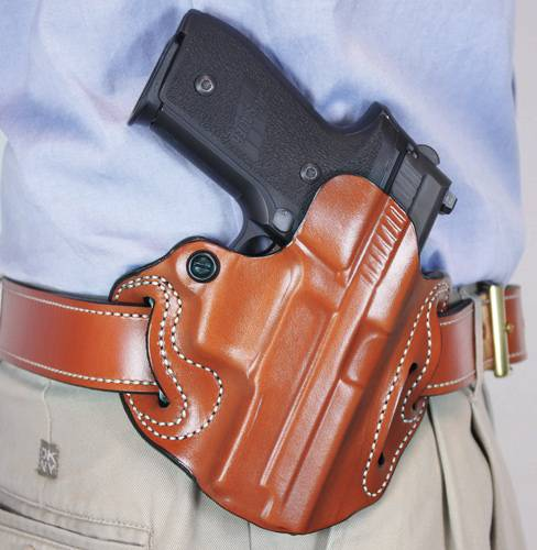 DESANTIS SPEED SCABBARD HOLSTR RH OWB LEATHER SIG P229R TAN