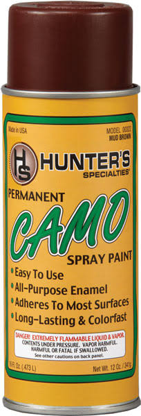 HS CAMO SPRAY PAINT MUD BROWN 12OZ