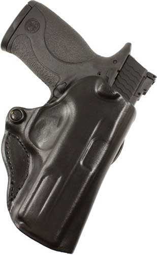 DESANTIS MINI SCABBARD HOLSTER RH OWB LEATHER M&P 4-4.25
