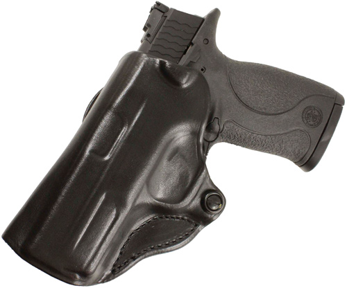 DESANTIS MINI SCABBARD HOLSTER LH OWB LEATHER GLK 19,23,36 BL