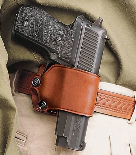 DESANTIS YAQUI SLIDE HOLSTER RH LEATHER LARGE DA AUTOS TAN