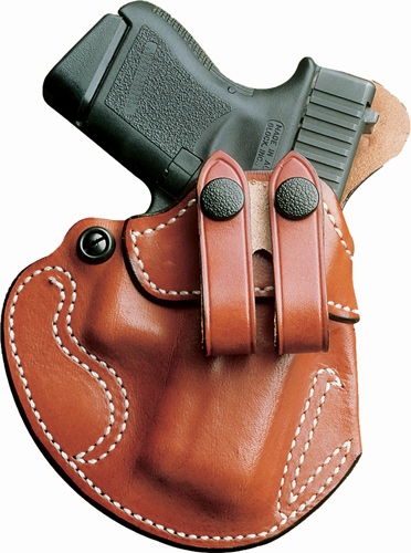 DESANTIS COZY PARTNER HOLSTER IWB LH LEATHER GLOCK 43 TAN
