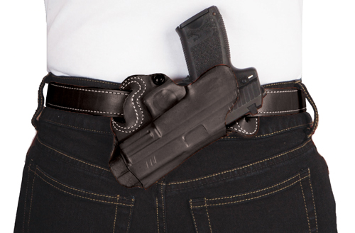 DESANTIS SMALL OF BACK HOLSTER RH OWB LEATHER S/A XD 4