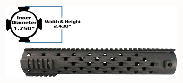 YHM FOREARM TJ COMPETITION FOR AR-15 RIFLE LENGTH