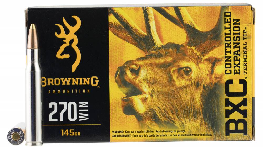 Browning Ammo BXC Controlled Expansion 270 Win 145 GR Terminal Tip 20 Bx/ 10 Cs