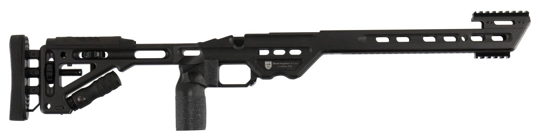 MasterPiece Arms BAREMLA Bolt Action Chassis Remington 700 LA Rifle 6061 Aluminum Black Cerakote