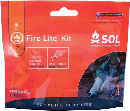 Adventure Medical Kits 01401230 SOL Fire Light Kit Lighter Blaze Orange