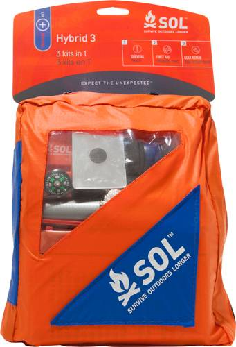 Adventure Medical 01401737 SOL Hybrid 3 Survival/Med/Repair Kit 7x62.5