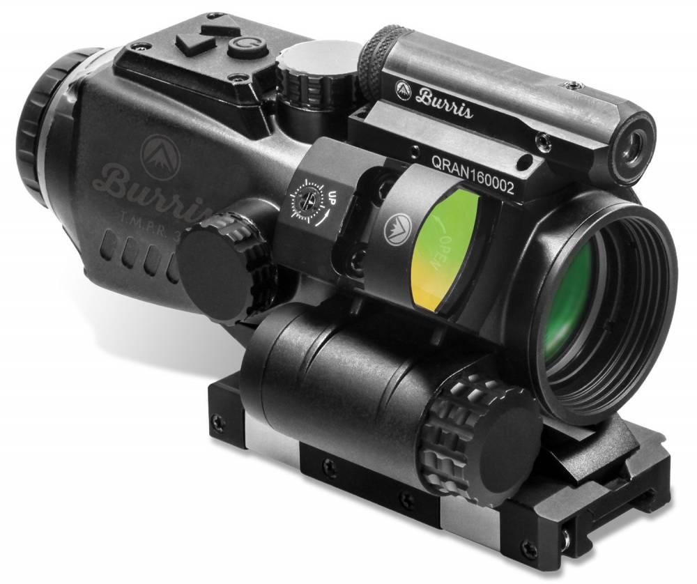 Burris 300228 T.M.P.R. 3 Prism Sight Combo 3x 32mm Obj Illuminated Ballistic AR Red/Green/Blue Black Matte CR123A Lithium