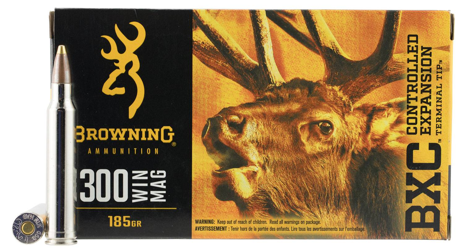 Browning Ammo BXC Controlled Expansion 300 Win Mag 185 GR Terminal Tip 20 Bx/ 10 Cs