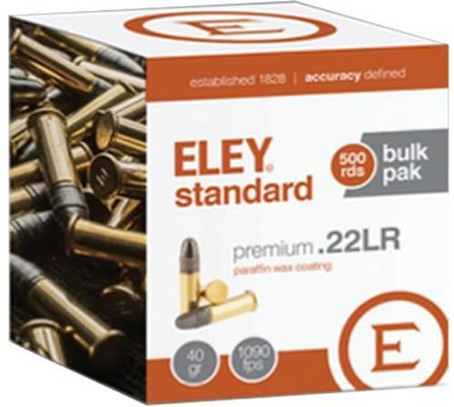 ELEY STANDARD .22LR 40GR ROUND NOSE BULLET 500 PK