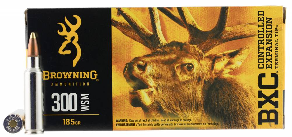 Browning Ammo BXC Controlled Expansion 300 WSM 185 GR Terminal Tip 20 Bx/ 10 Cs