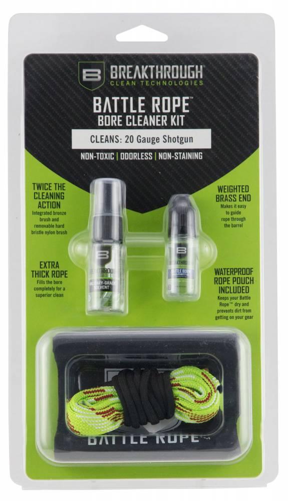 Breakthrough Clean BTBRFS20G Battle Rope Bore Cleaner Kit 20 Gauge Shotgun Bronze, Nylon Brush