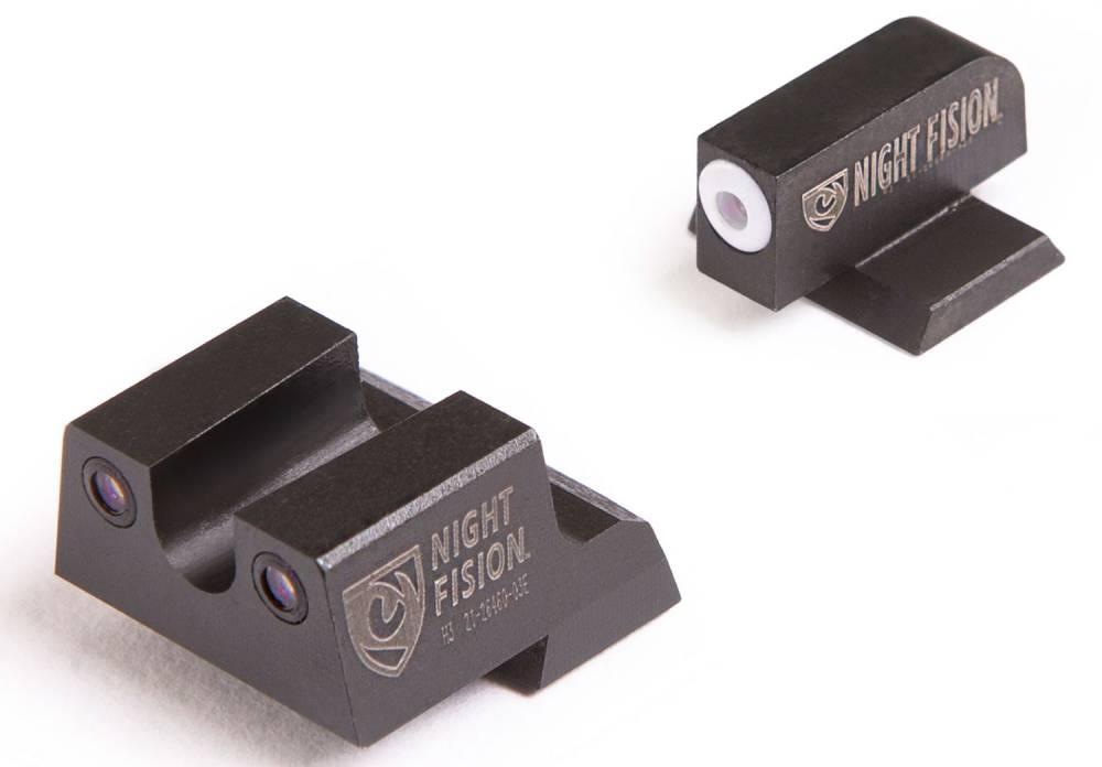 Night Fision CNK026007OGZ Night Sight Set U-Notch Rear Century Canik TP9SFx/TP9SFL Green Tritium w/Orange Outline Black Tritium