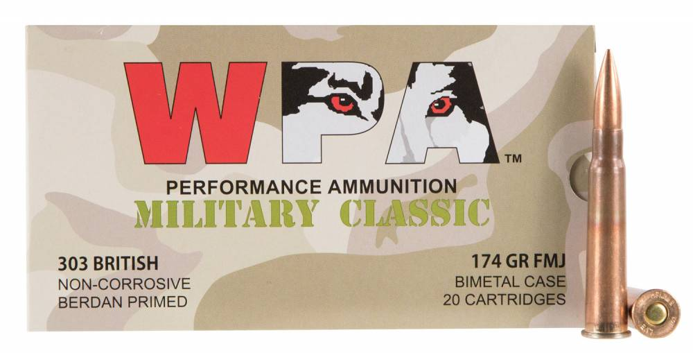 Wolf Military Classic 303 British 174 GR Full Metal Jacket (FMJ) 20 Bx/ 14 Cs