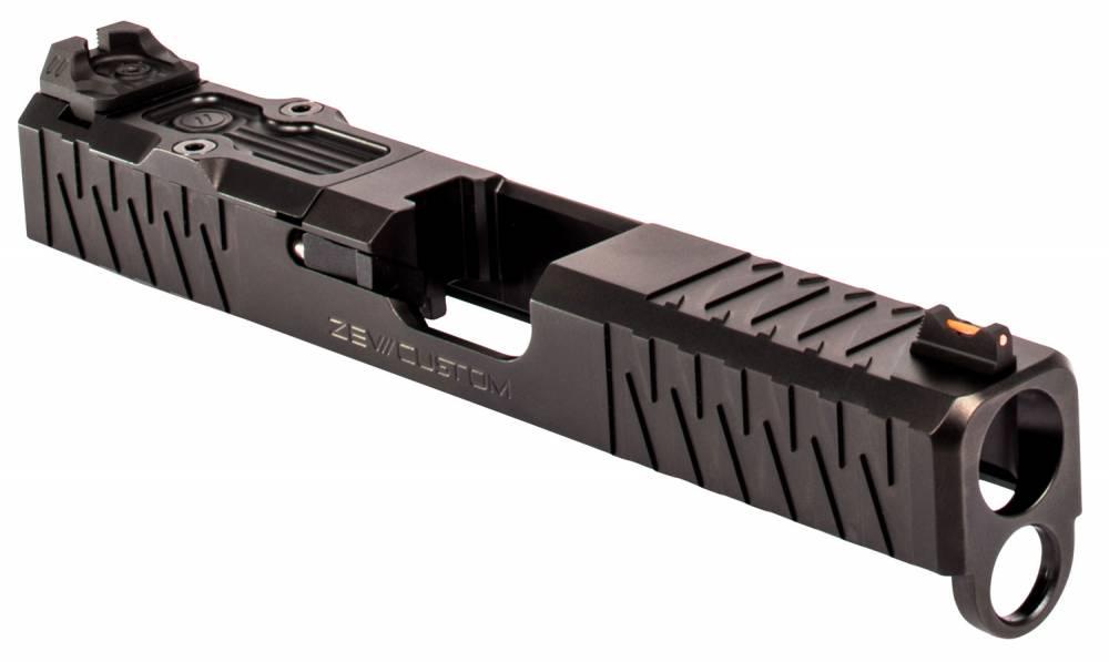 ZEV SLDKITZ194GE Enhanced SOCOM Slide Kit compatible with Glock 19 Gen4 17-4 Stainless Steel/Aluminum Black