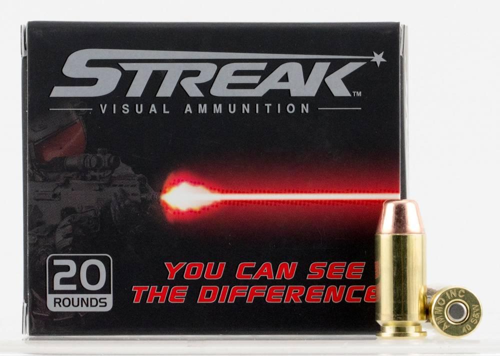 Ammo Inc 40180TMCSTRK Streak  40 S&W 180 gr Total Metal Jacket (TMJ) 20 Bx/ 10 Cs