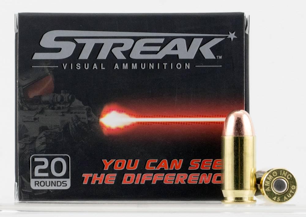 Ammo Inc 45230TMCSTRK Streak  45 ACP 230 gr Total Metal Jacket (TMJ) 20 Bx/ 10 Cs