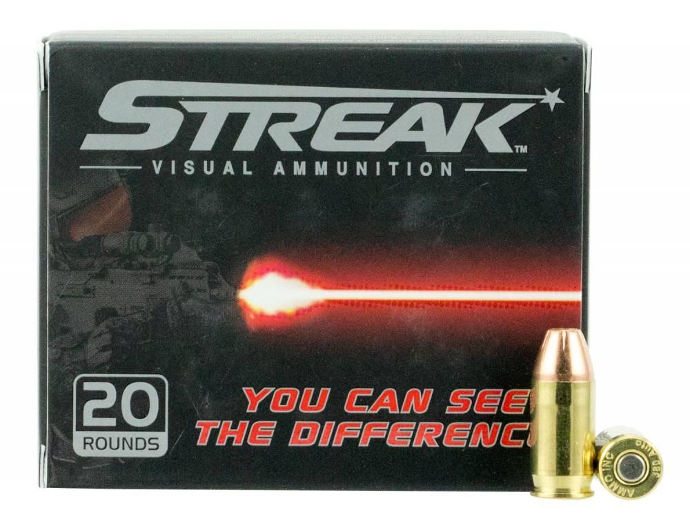 Ammo Inc 380090JHPSTR Streak  380 ACP 90 gr Jacketed Hollow Point (JHP) 20 Bx/ 10 Cs