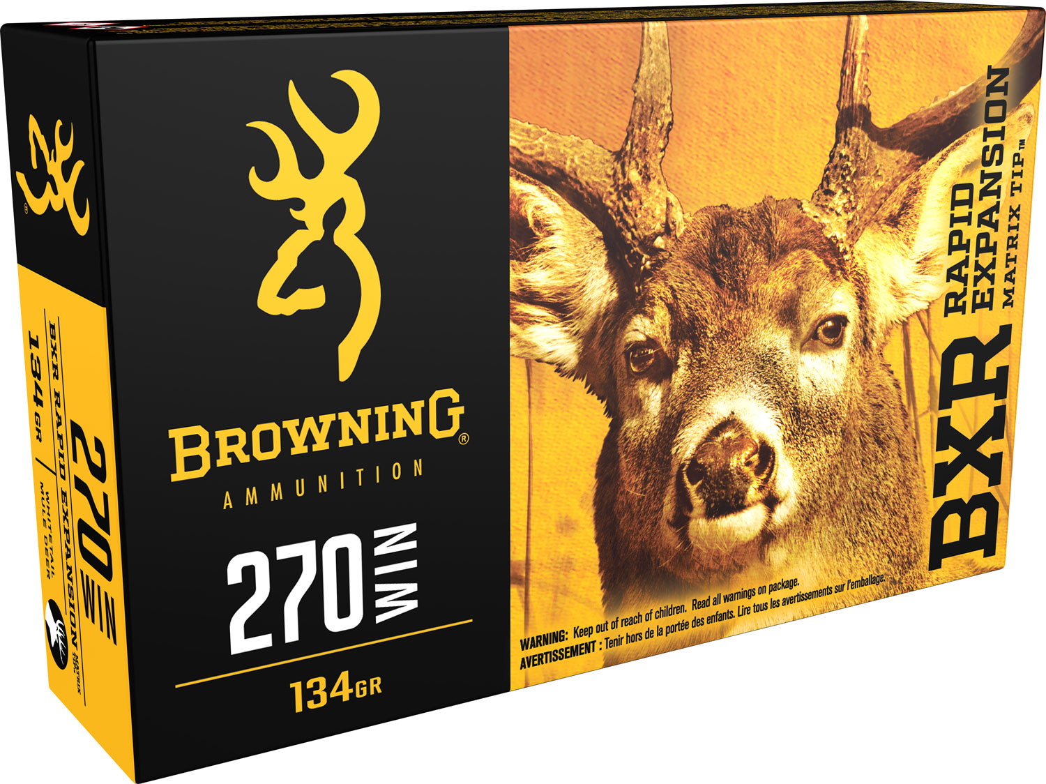 Browning Ammo BXR Rapid Expansion 270 Win 134 GR Matrix Tip 20 Bx/ 10 Cs