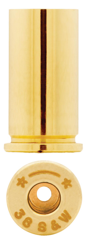 Starline Brass STAR38SWEUP1 Handgun 38 S&W Brass 100 Per Bag