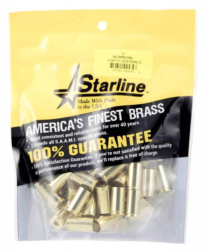Starline Brass STAR45SPECIA Handgun 45 Special Brass 50 Per Bag