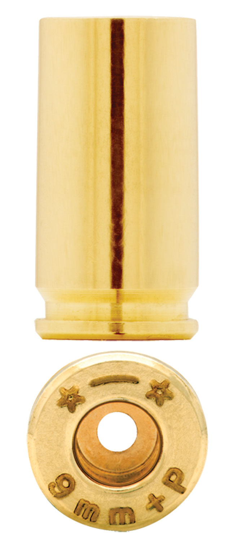 Starline Brass STAR9LUGEREU Handgun 9mm Luger +P Brass 100 Per Bag