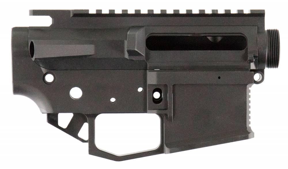 Rise Armament STR2BLK Striker AR15 Receiver 223 Remington/5.56 NATO Black Hardcoat Anodized