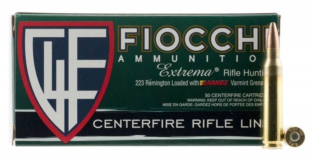 Fiocchi 223VGNT Extrema Leadless 223 Rem 50 gr Barnes Varmint Grenade 50 Bx/ 10 Cs