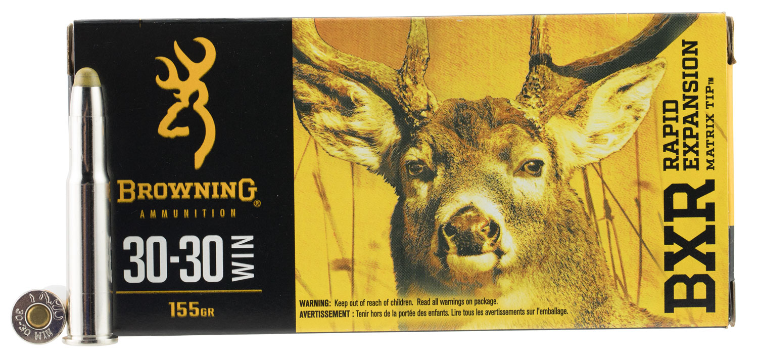 Browning Ammo BXR Rapid Expansion 30-30 Win 155 GR Matrix Tip 20 Bx/ 10 Cs