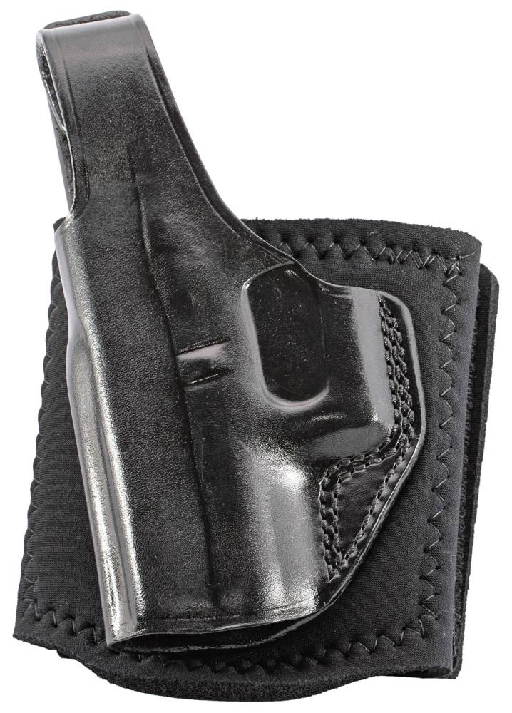 Galco AG801B Ankle Glove  Black Leather Fits Glock 43 Left Hand