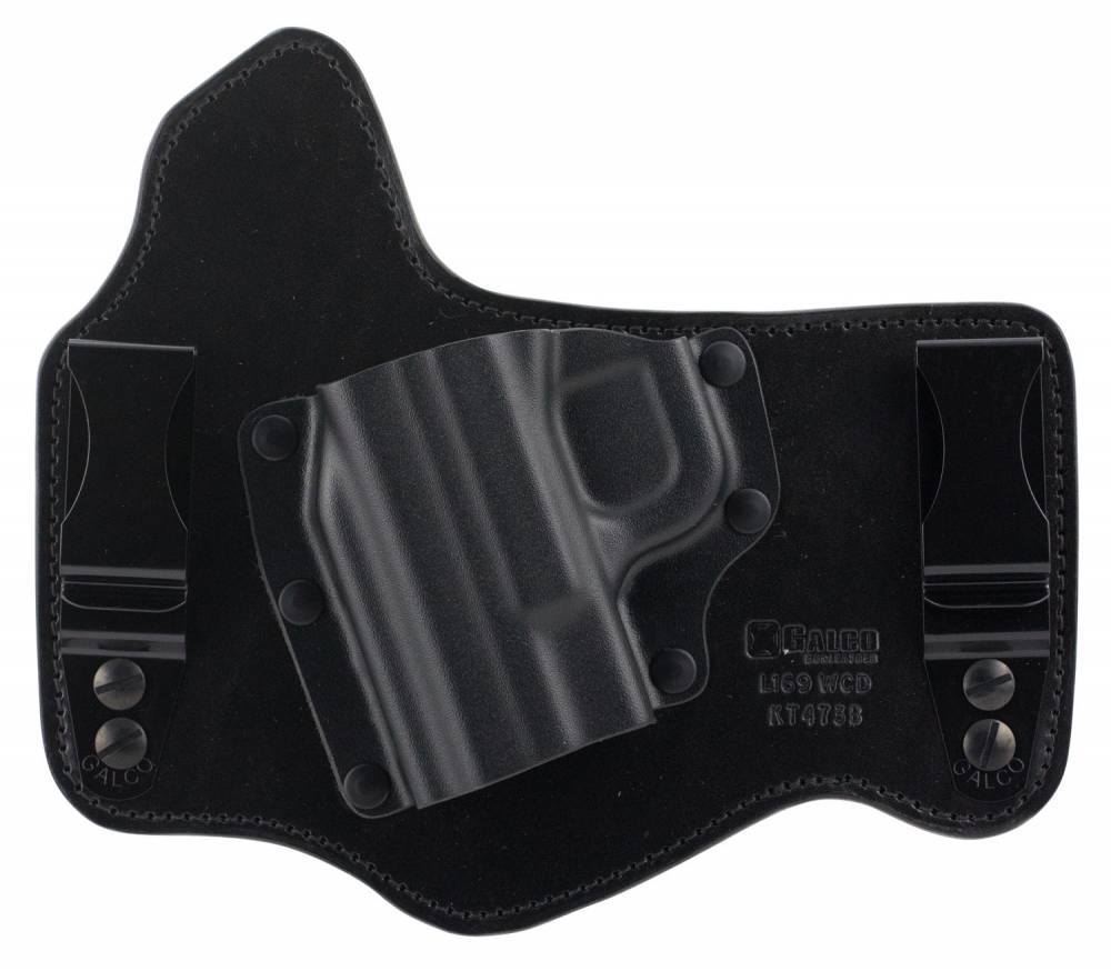 Galco KT473B KingTuk Deluxe Black Kydex Holster w/Leather Backing IWB S&W M&P 9,40 Left Hand