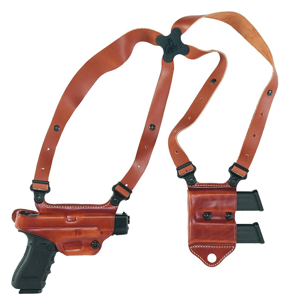 Galco MCII228 Miami Classic II Shoulder System Tan Leather Fits Glock 21 Right Hand
