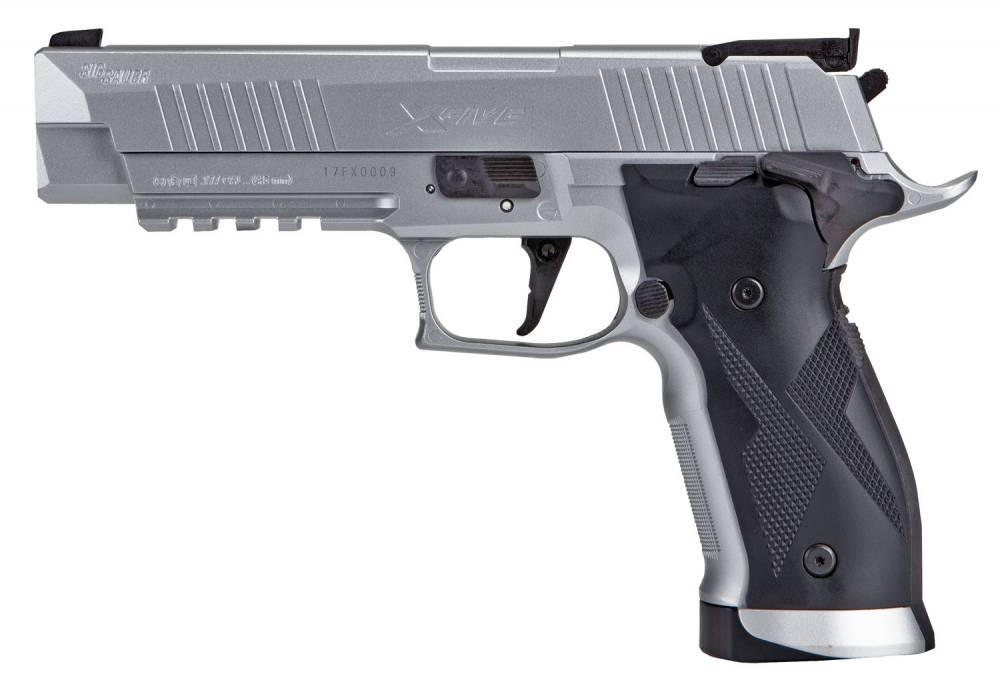 Sig Sauer Airguns X5 P226 Air X-Five Air Pistol Single/Double CO2 .177 Pellet 20 rd Silver Frame Black Grip