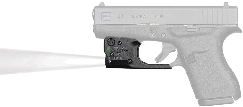 Viridian 9200038 Reactor TL Gen 2 Tactical Light with Holster 140 Lumens 1/3N Lithium Black Fits Glock 43