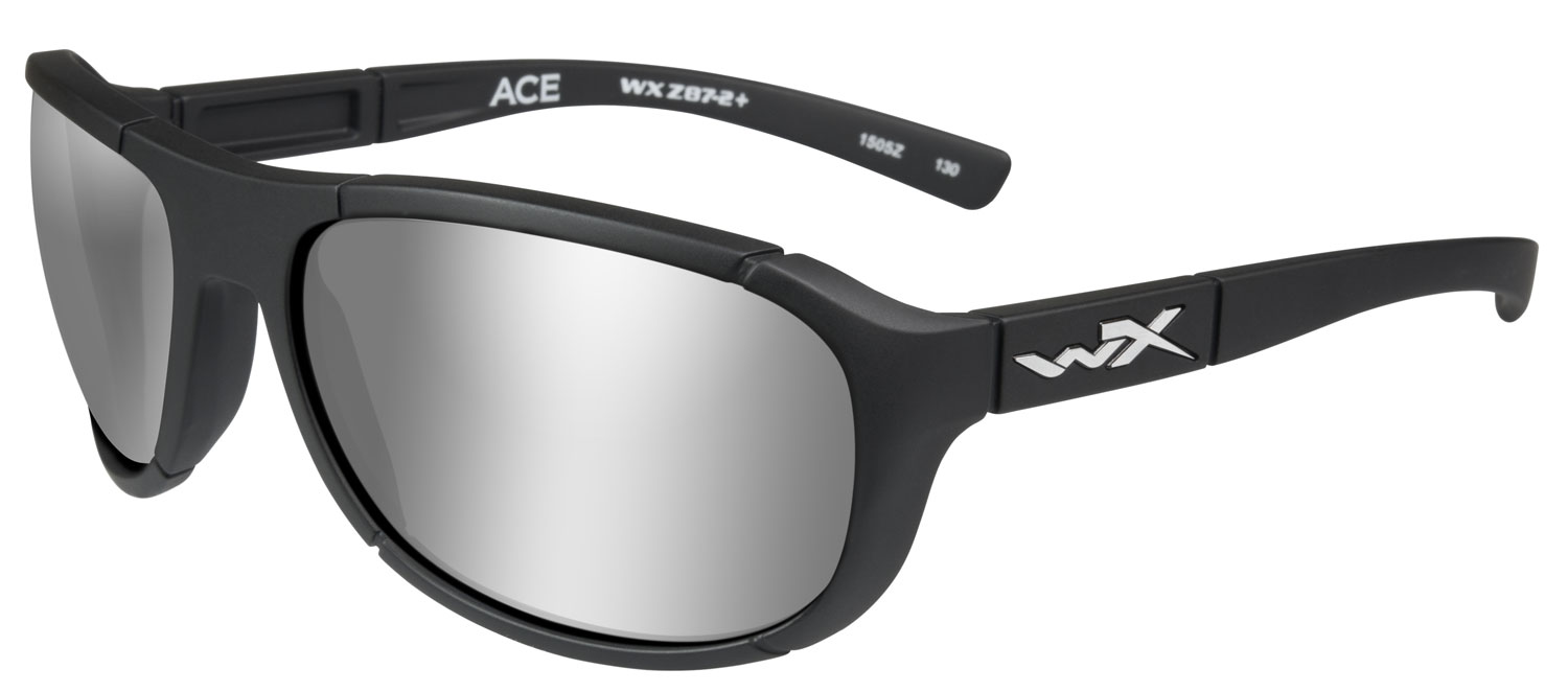 Wiley X ACACE06 Ace Eye Protection Silver Flash Lens Black Matte