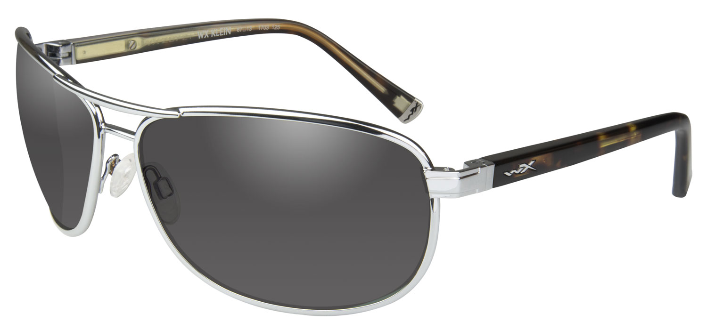 Wiley X ACKLE02 Klein Eye Protection Smoke Gray Lens Silver