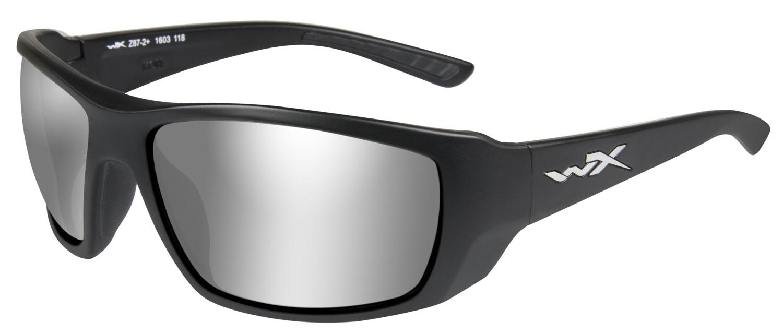 Wiley X ACKOB02 Kobe Eye Protection Silver Flash Lens Black Matte