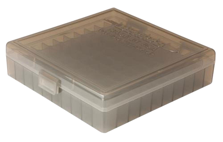 Berrys 008 Ammo Box 40 S&W, 45 ACP, 10mm 100rd Smoke Gray