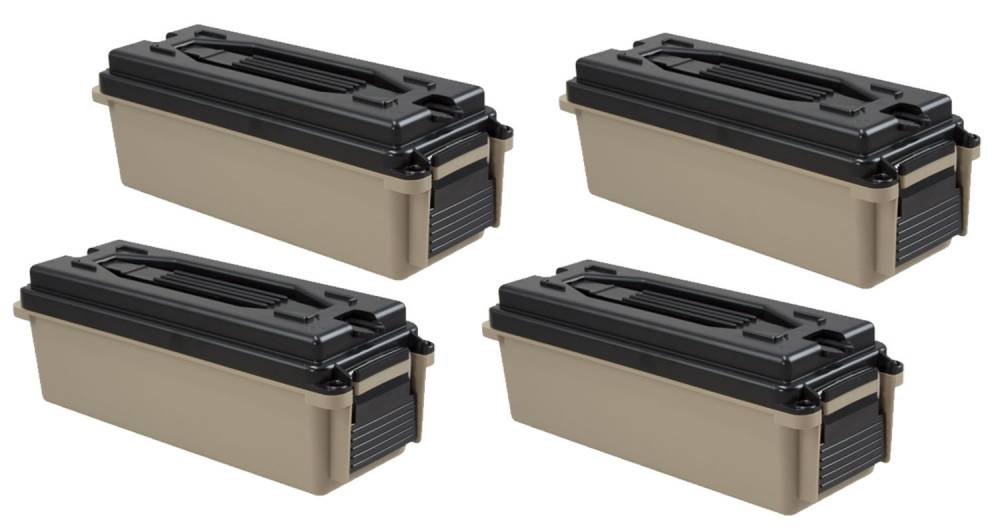 Berrys Ammo Can 20 Cal Tan 4 Pack