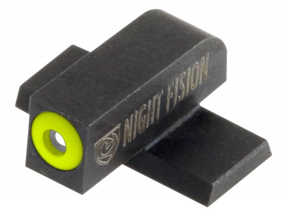 Night Fision SPR226003YGW Night Sight Set Square Springfield XD/XD(M)/XD-M2 Green Tritium w/Yellow Outline Front Green Tritium w/White Outline Rear Black