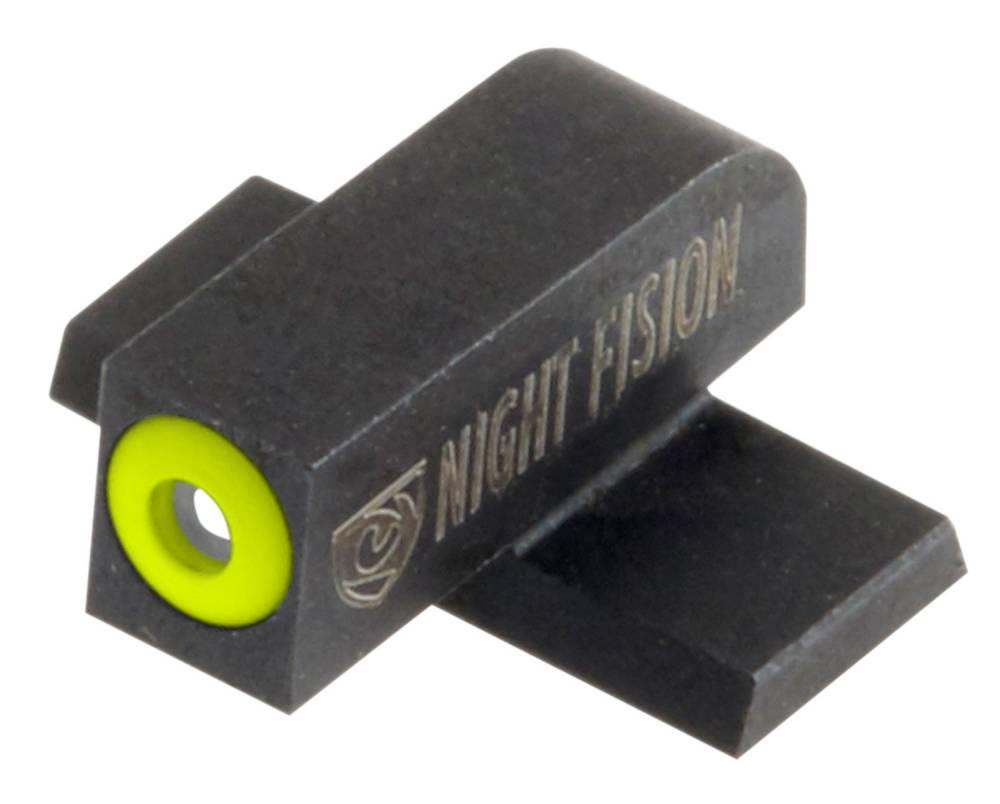 Night Fision SPR226003YGZ Night Sight Set Square Springfield XD/XD(M)/XD-M2 Green Tritium w/Yellow Outline Black